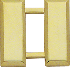 Smith And Warren Collar Brass Insignia -  CAPT/SMALL/SMOOTH PAIR