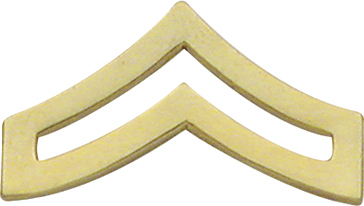 Smith And Warren Collar Brass Insignia -  CPL CHEVRON LARGE PAIR