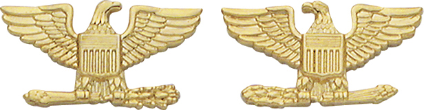 Smith And Warren Collar Brass Insignia -  EAGLES/SMALL PAIR
