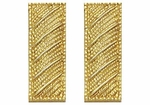 Smith And Warren Collar Brass Insignia -  LT/SMALL/CORRUGATED PAIR