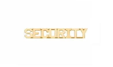 Smith And Warren Collar Brass Insignia -  SECURITY PAIR