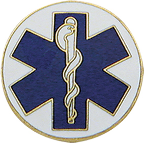 Smith And Warren Collar Brass Insignia -  STAR OF LIFE DISC PAIR