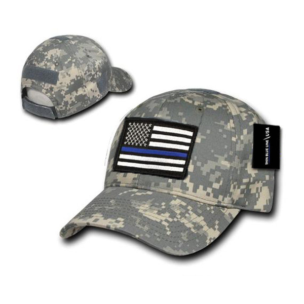 Thin Blue Line Camo Operators Cap and Patch