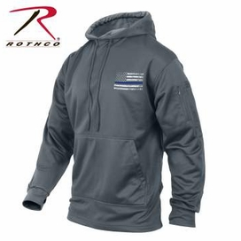 Thin Blue Line Concealed Carry Hoodie Gray