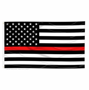 Thin Red Line American Flag - 4 x 6 Ft