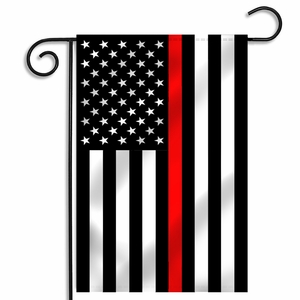 Thin Red Line American Garden Flag - 12.5 x 18 Inches
