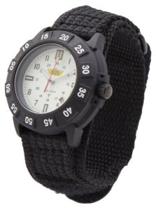 UZI Protector Watch With White Face And Nylon Strap