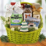 Goodies for Dog and Owner Christmas Gift Basket