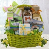 Goodies for Dog and Owner Gift Basket