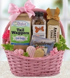 Goodies for Dog and Owner Valentine Gift Basket