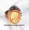 CAMEO LADY Ring       - Sarah Coventry