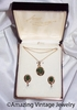 JADE OVAL Necklace/Earrings Set in Box