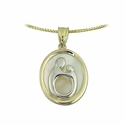 10K Two Tone Large Oval Mother & Child&reg  Pendant