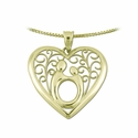 10K Yellow gold Large FiligreeMother & Child&reg Heart Pendant