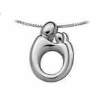 14K White Gold Large Twin Mother and Child&reg Pendant