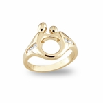 14K Yellow Gold Mother and Child&reg Diamond Ring