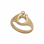 14K Yellow Gold Small Mother and Child&reg Ring
