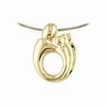 14K Yellow Gold Triplet Mother and Child&reg Pendant