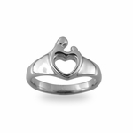 Sterling Silver Mother and Child&reg Heart Ring