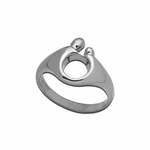 Sterling Silver Small Mother and Child&reg Ring