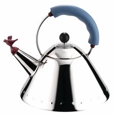 Alessi Bird Tea Kettle w/ Blue Handle