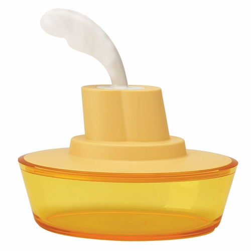 Alessi Ship Shape Yellow Butter Dish