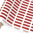 Artek Siena White / Red Fabric
