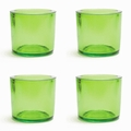 Cose Nuove Recycled Glass Lime Candle Votive Set of 4