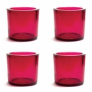 Cose Nuove Recycled Glass Red Candle Votive Set of 4
