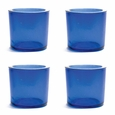 Cose Nuove Recycled Glass Royal Blue Candle Votive Set of 4