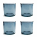 Cose Nuove Recycled Glass Slate Candle Votive Set of 4