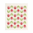 Cose Nuove Red Tulip Swedish Dishcloth (Set of 3)