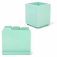 Design Ideas Tab Mint Paper Sorter & Pencil Cup
