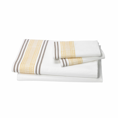 Dwell Studio Blockprint Ochre Sheet Set - King