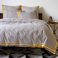 Dwell Studio Lucca / Blockprint Ochre Bedding Set