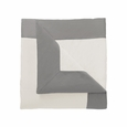Dwell Studio Modern Border Smoke Duvet Cover - Full/Queen