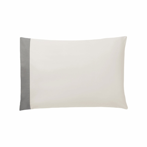 Dwell Studio Modern Border Smoke Pillow Cases- King