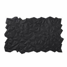Finell Join Facet Black Silicone Placemats (Set of 2)
