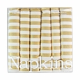 Harvey & Strait Midas Stripe Big Buffet Napkins (Set of 6)