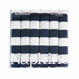 Harvey & Strait Navy Stripe Big Buffet Napkins (Set of 6)