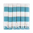 Harvey & Strait Turquoise Stripe Big Buffet Napkins (Set of 6)