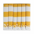 Harvey & Strait Yellow Stripe Big Buffet Napkins (Set of 6)