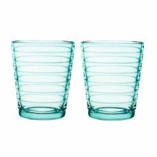 iittala Aino Aalto Water Green Short Tumblers - Set of 2