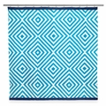 Jonathan Adler Arcade Turquoise Shower Curtain