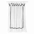 Jonathan Adler Santorini Black Shower Curtain