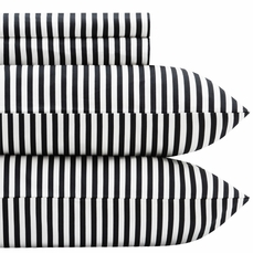 Marimekko Ajo Black Stripe Percale Bedding