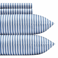 Marimekko Ajo Blue Stripe Percale Bedding
