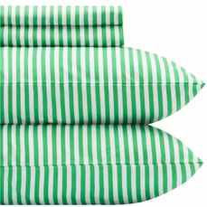Marimekko Ajo Green Stripe Percale Bedding
