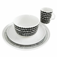 Marimekko Dinnerware Set � Black/White