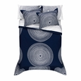Marimekko Fokus Navy/White Percale Bedding